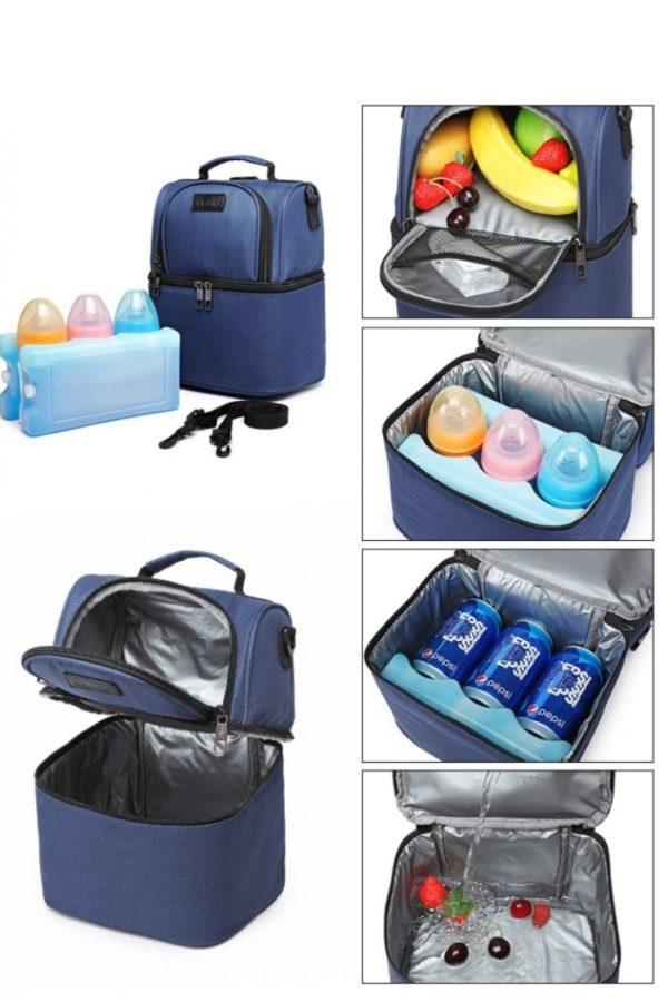 Μπλε Τσάντα Μεταφοράς Φαγητού