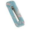 Marble Γαλάζιο Ορθογώνιο Κοκκαλάκι Μαλλιών Κλιψ