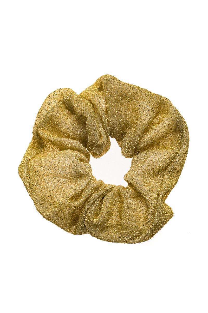 Χρυσαφί Scrunchie Σούρα Μαλλιών Glitter
