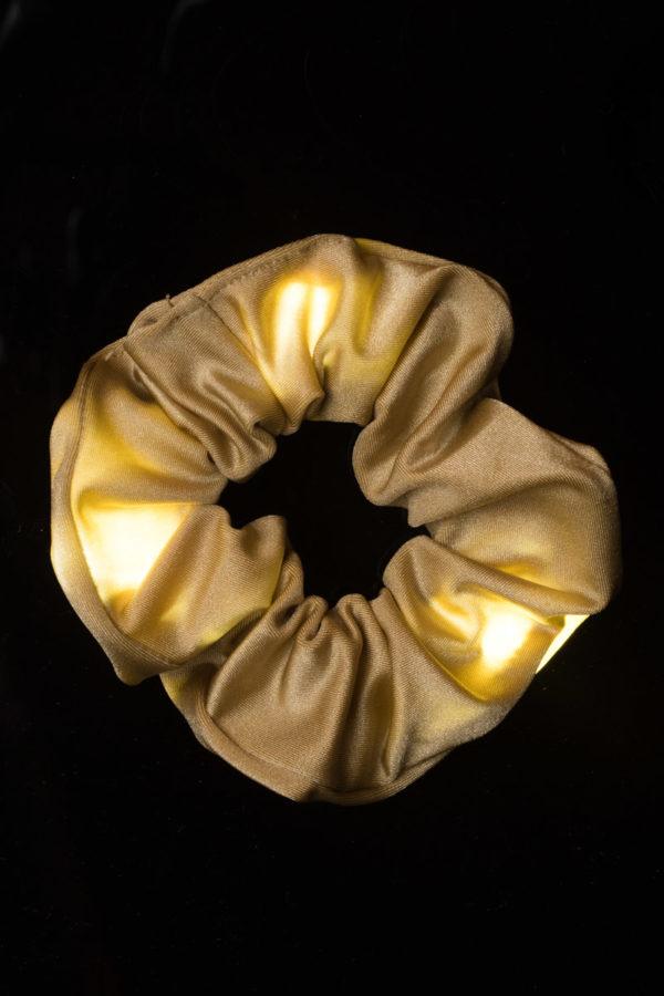 Loomies Scrunchie Χρυσαφί με Φωτεινά Στοιχεία