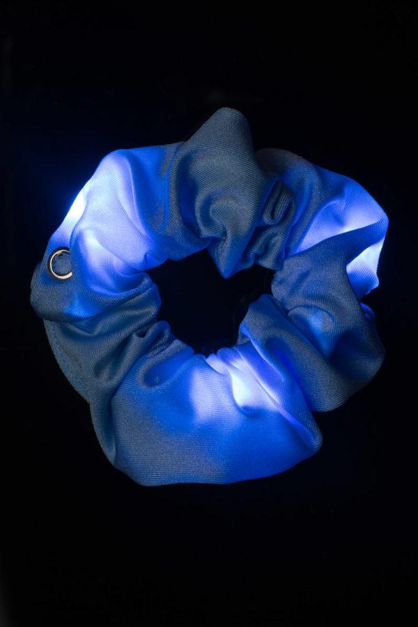 Loomies Scrunchie Γαλάζιο με Φωτεινά Στοιχεία
