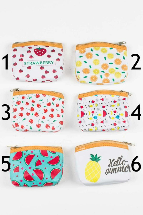 8 Αντισηπτικά Μαντηλάκια σε Πορτοφόλι Μπρελόκ Summer Fruits