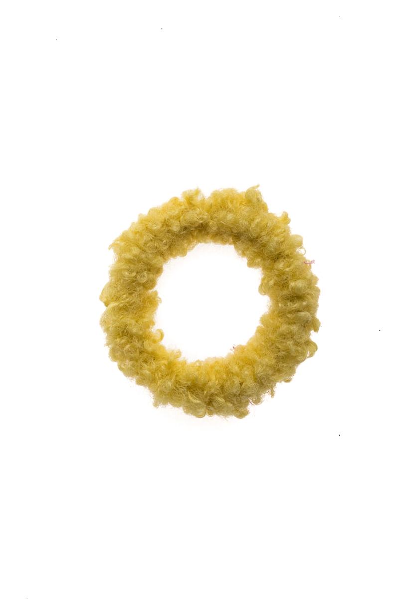 Κίτρινη Μπουκλέ Σούρα Μαλλιών Scrunchie