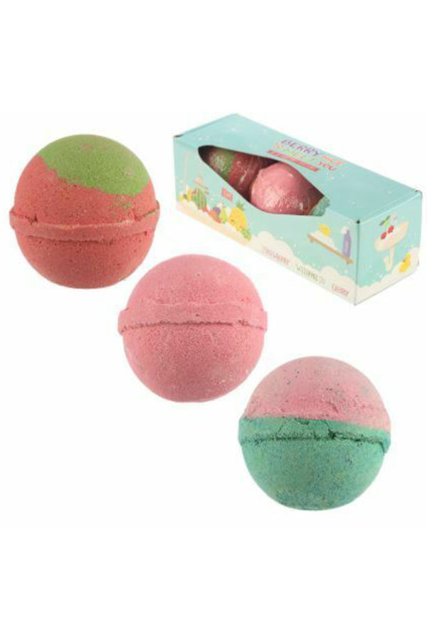 Bath Bombs Berry Nice to Meet you Set of 3