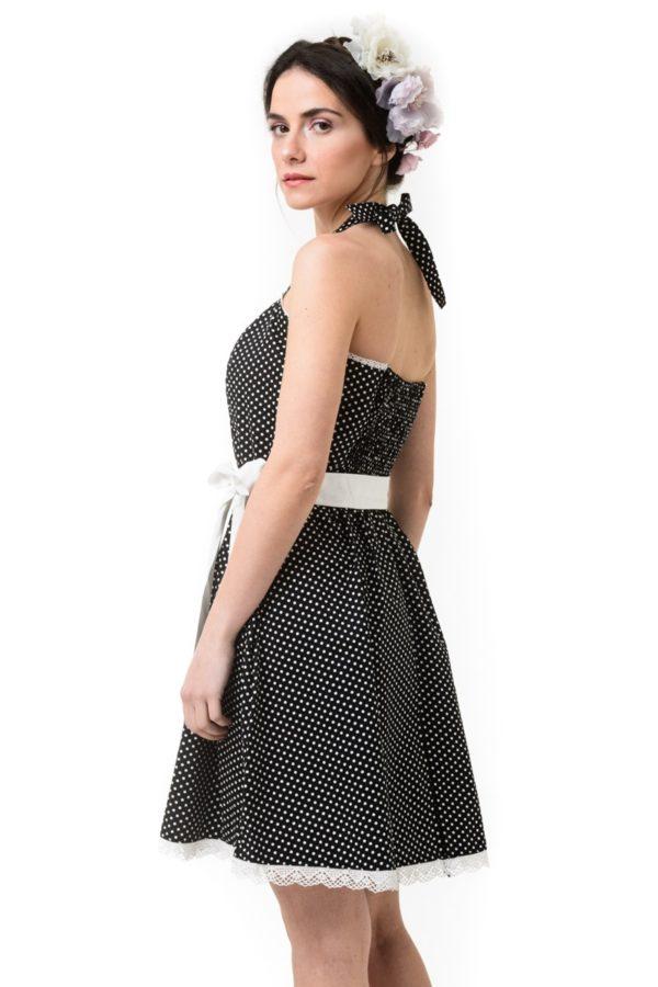 Πουά Φόρεμα Με Ζώνη