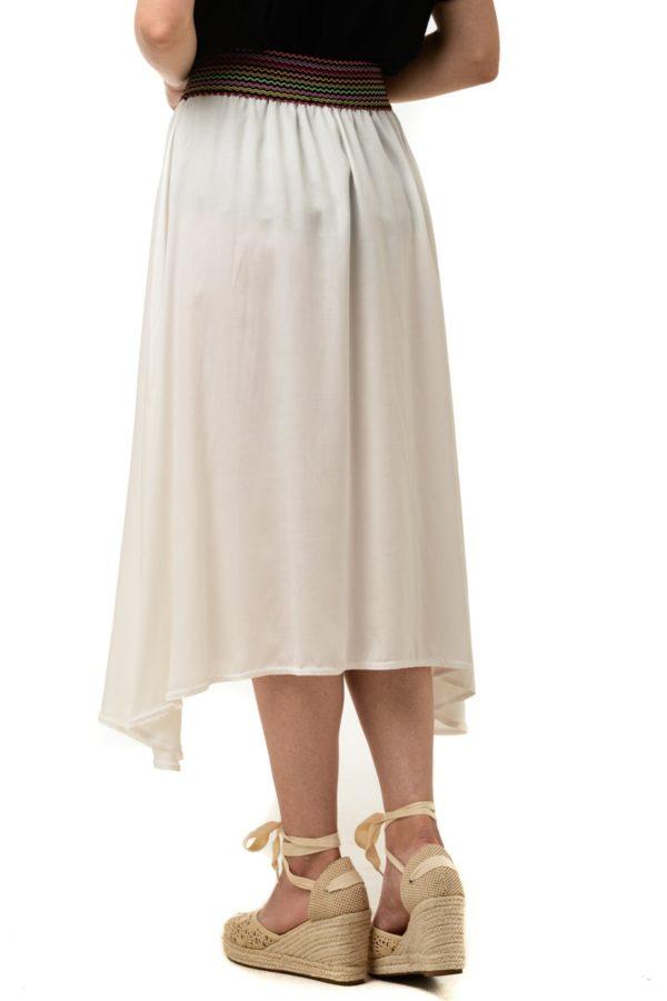 Άσπρη Φούστα με Λάστιχο