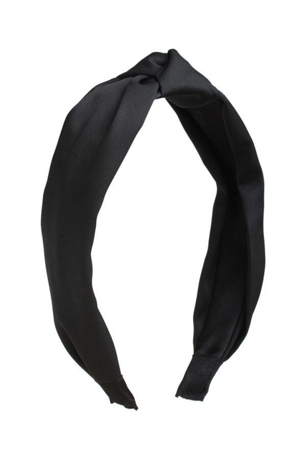 Μαύρη Στέκα Μαλλιών Τουρμπάνι με Κόμπο