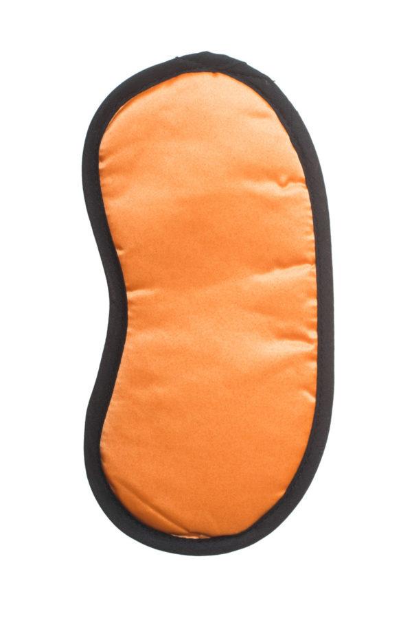Σατέν Μάσκα Ύπνου Πορτοκαλί Μαύρο