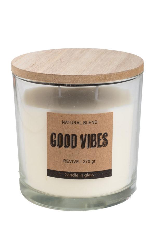 Αρωματικό Κερί Revive Good Vibes σε Γυάλινο Βάζο 270γρ.