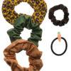 Set of 5 Scrunchies Λαστιχάκια Σούρες Safari