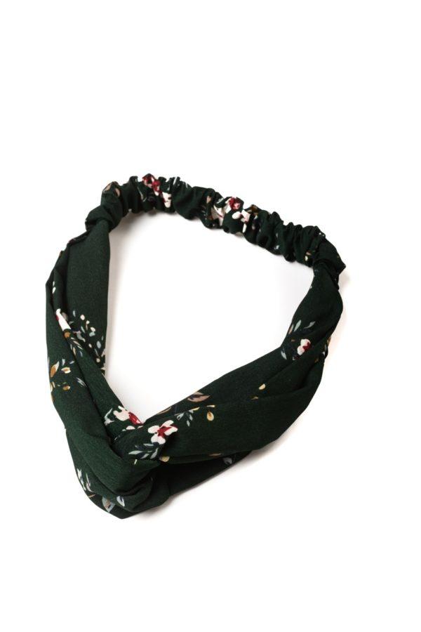 Πράσινη Φλοράλ Κορδέλα Μαλλιών Τουρμπάνι