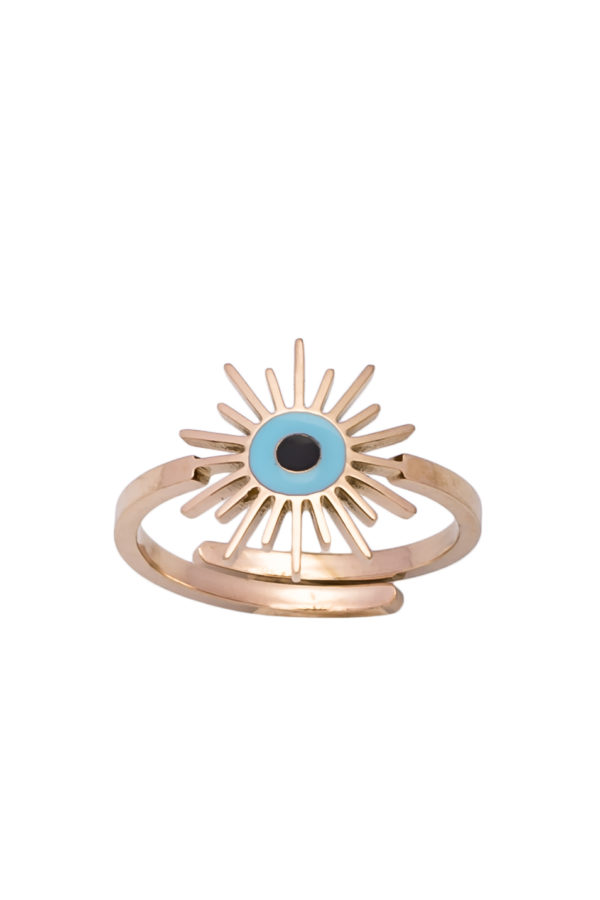Δαχτυλίδι Ήλιος Ροζ Χρυσό
