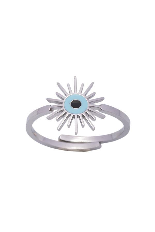 Δαχτυλίδι Ήλιος Ασημί