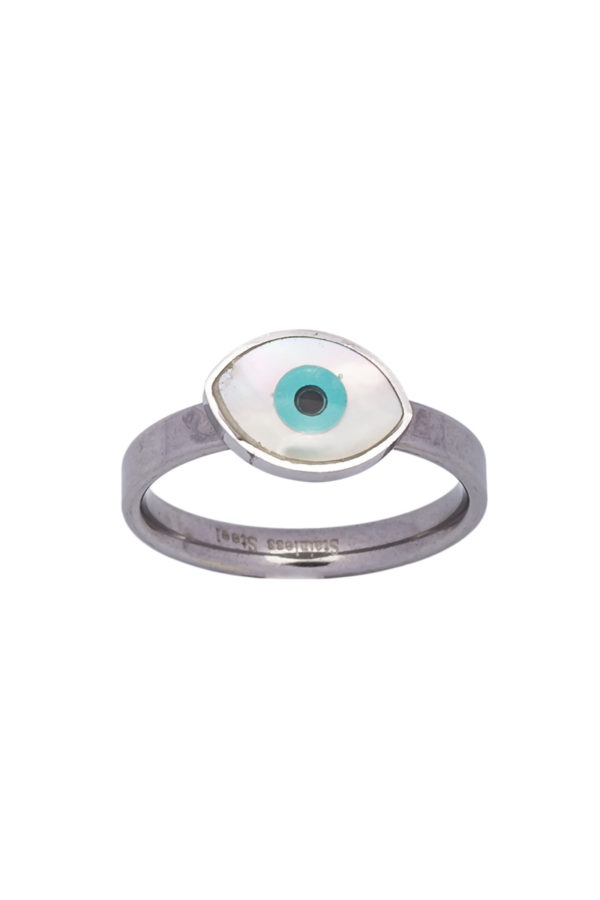 Δαχτυλίδι Μικρό Ματάκι Ασημί