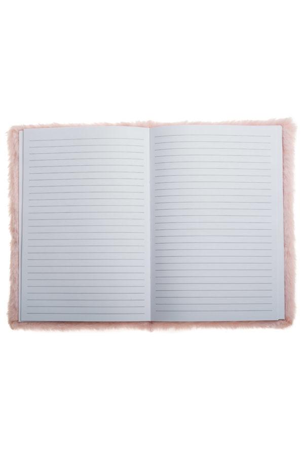 Τετράδιο Σημειώσεων με Γούνα Ροζ Παγωτό