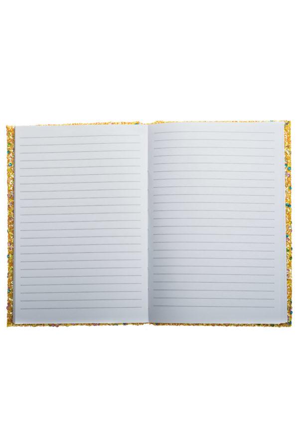 Τετράδιο Σημειώσεων με Glitter Χρυσαφί