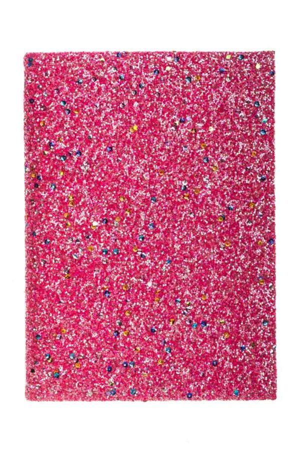 Τετράδιο Σημειώσεων με Glitter Φούξια