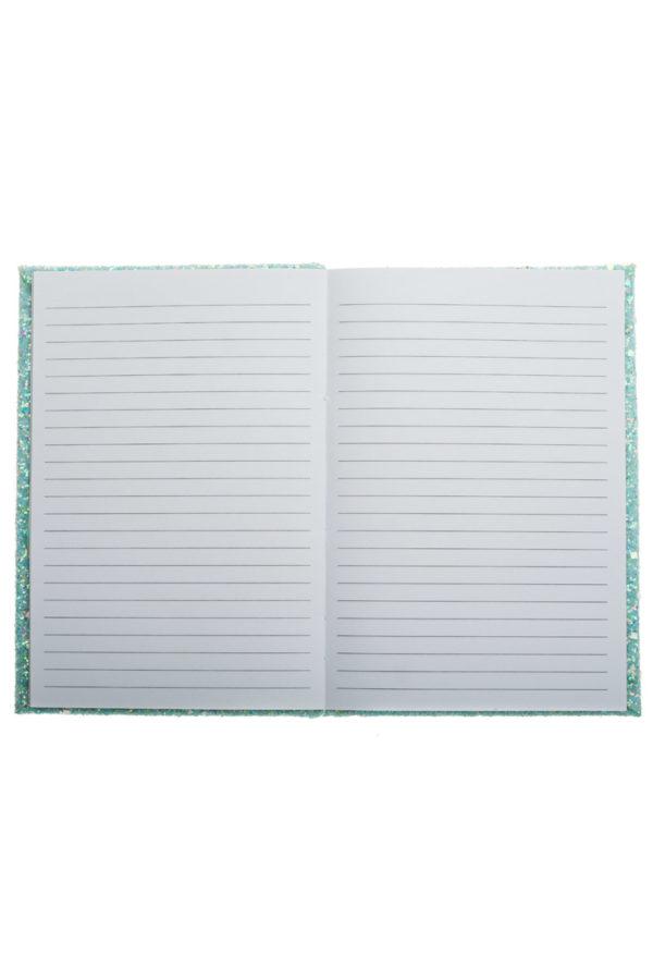 Τετράδιο Σημειώσεων με Glitter Mint