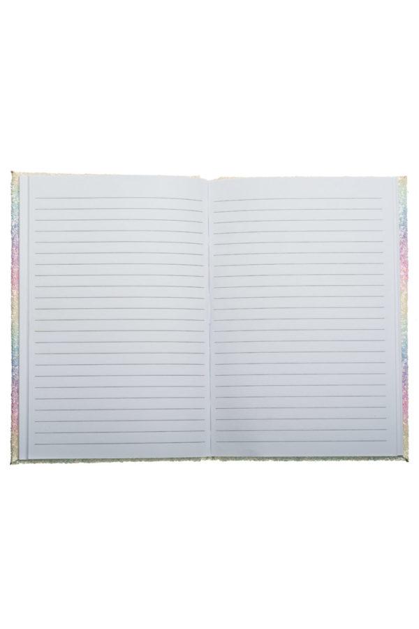 Τετράδιο Σημειώσεων με Glitter Παστέλ Rainbow