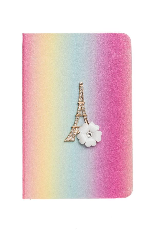 Planner Ατζέντα με Glitter Rainbow Παρίσι