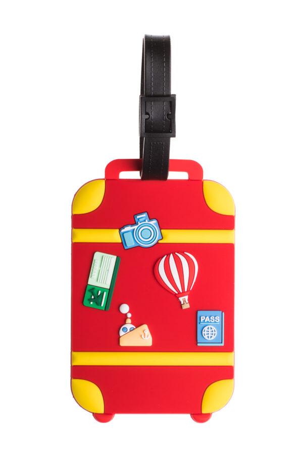 Ετικέτα Βαλίτσας Κόκκινη Βαλίτσα Luggage Tag