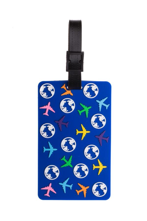Ετικέτα Βαλίτσας Μπλε Αεροπλάνα Luggage Tag