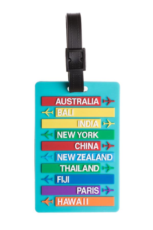 Ετικέτα Βαλίτσας Τυρκουάζ Destinations Luggage Tag