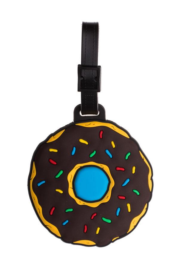 Ετικέτα Βαλίτσας Καφέ Donut Luggage Tag