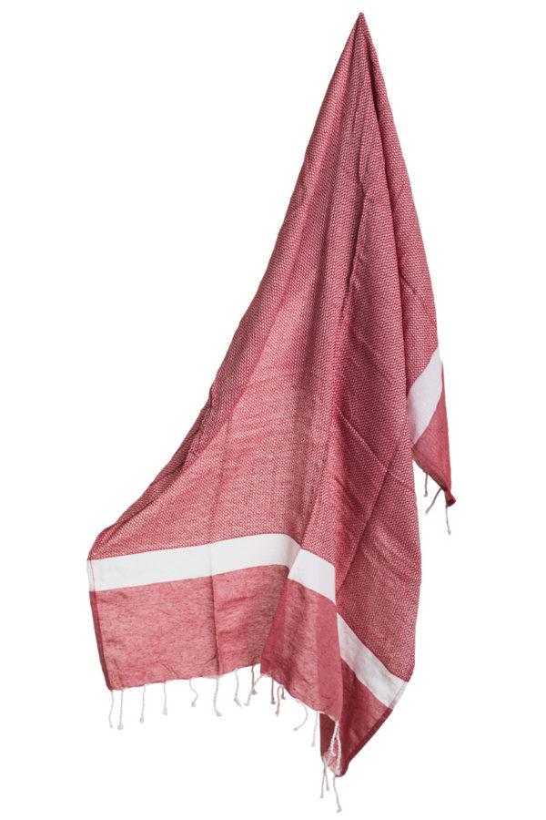 Πετσέτα Ριχτάρι Θαλάσσης Pestemal Κόκκινη με Κρόσια