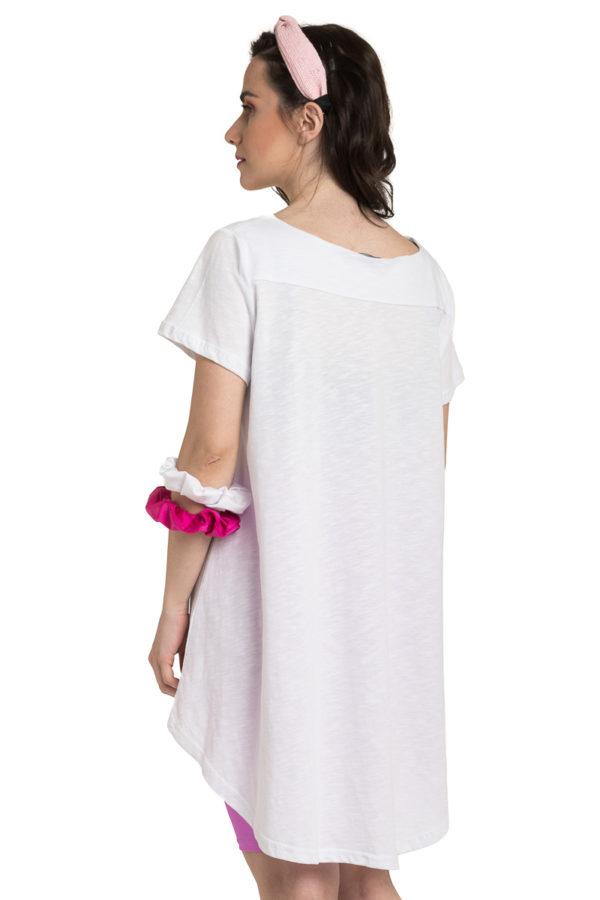 Άσπρη Μπλούζα με Ουρά Καθημερινή