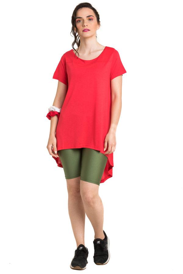Κόκκινη Μπλούζα με Ουρά Καθημερινή