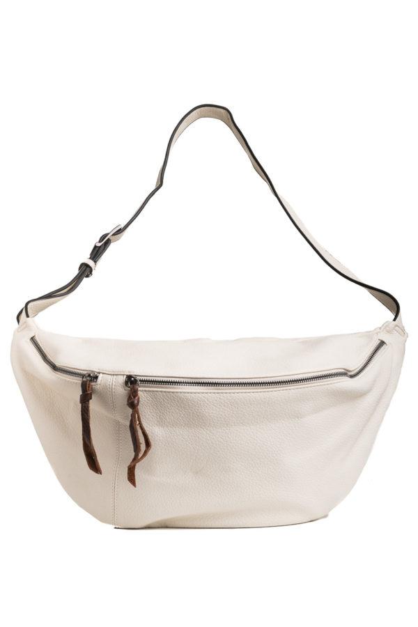 Άσπρη Τσάντα Χιαστί Belt Bag