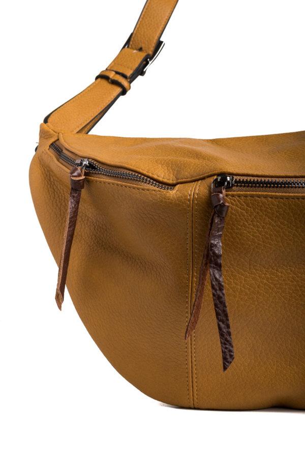 Ώχρα Τσάντα Χιαστί Belt Bag