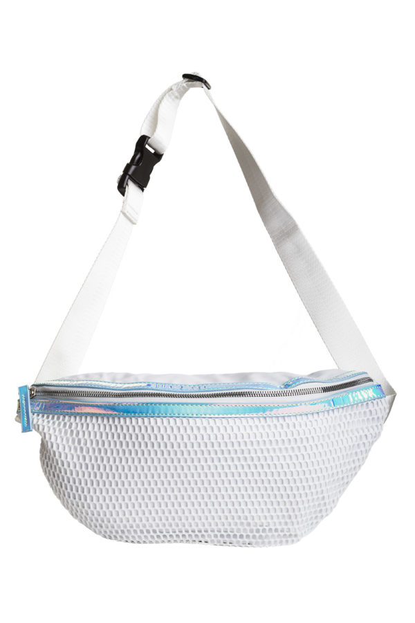 Άσπρη Τσάντα Μέσης - Χιαστί XL