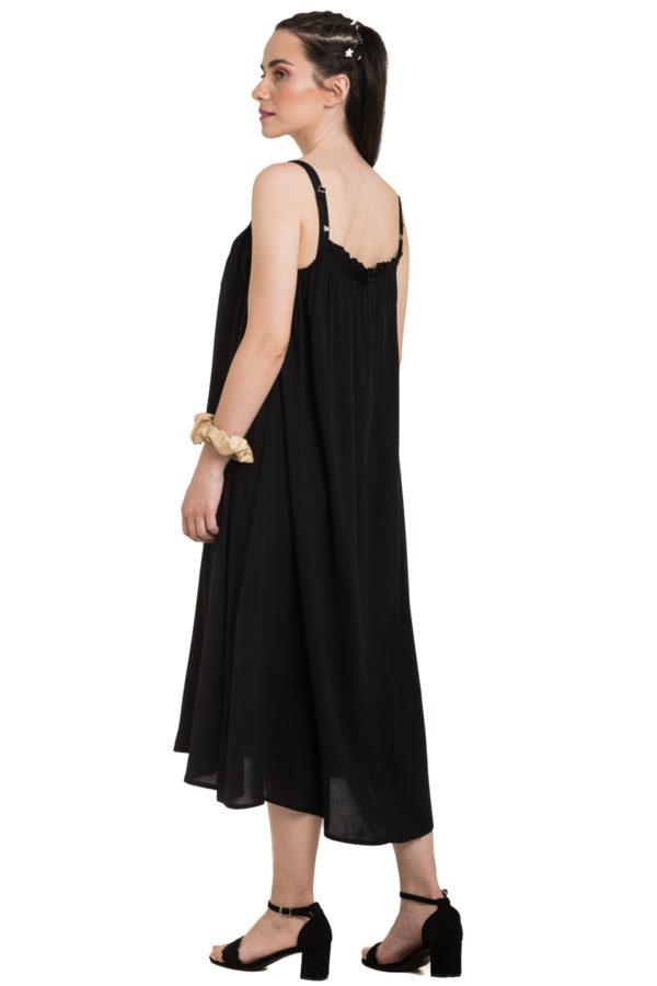 Μαύρο Τιραντέ Φόρεμα Καλοκαιρινό