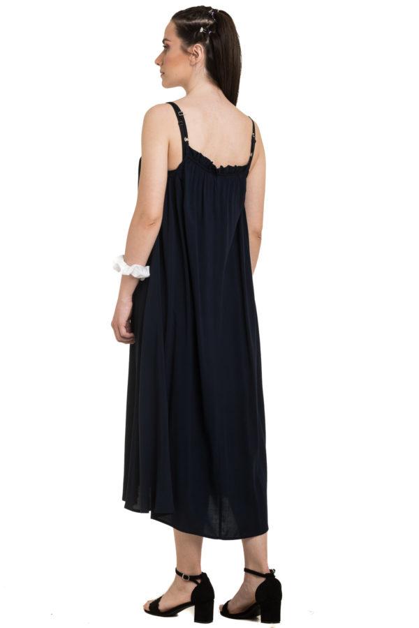 Μπλε Τιραντέ Φόρεμα Καλοκαιρινό