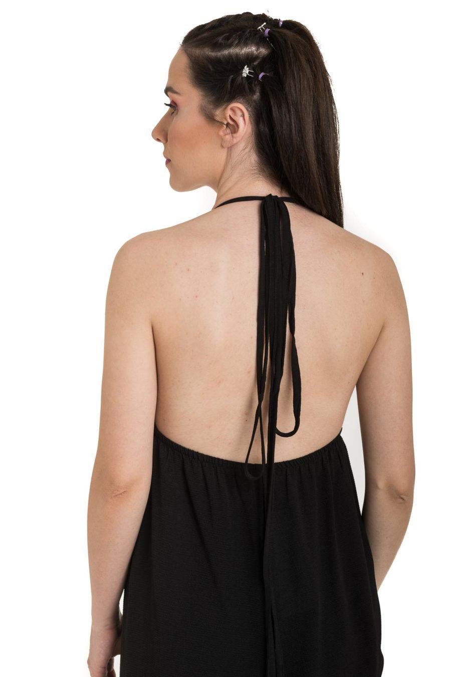 Μαύρη Φαρδιά Ολόσωμη Φόρμα Εξώπλατη