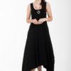 Μαύρο Ασύμμετρο Φόρεμα με Μύτες