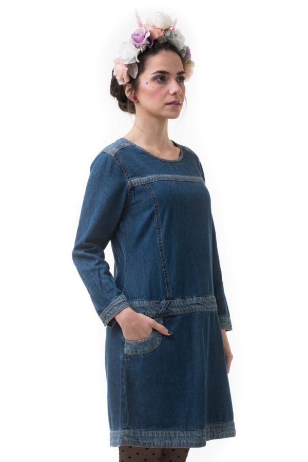Calao Φόρεμα Τζιν με Φερμουάρ