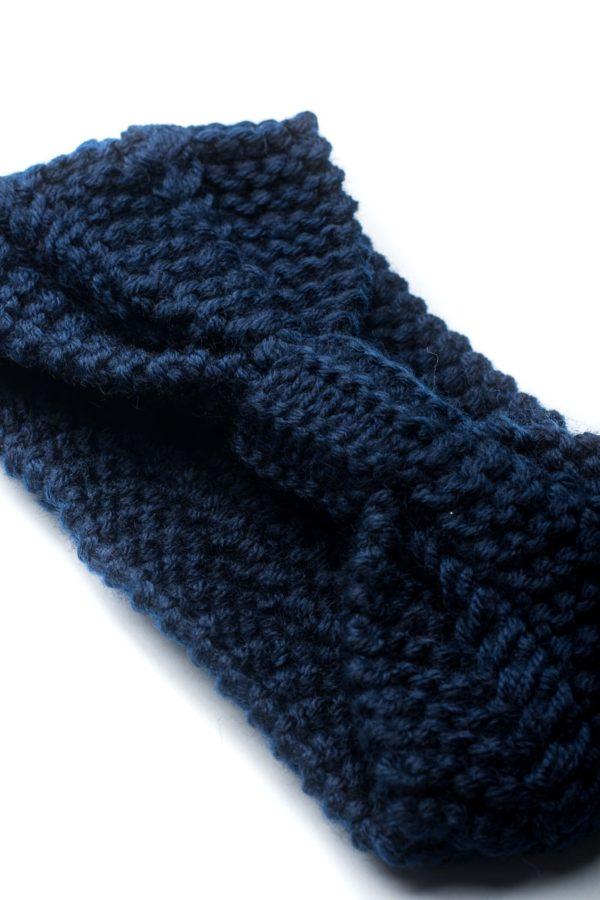 Μπλε Πλεκτή Κορδέλα Μαλλιών