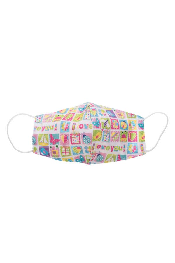 Παιδική Υφασμάτινη Μάσκα Προστασίας FFP2 Παστέλ Ζωάκια