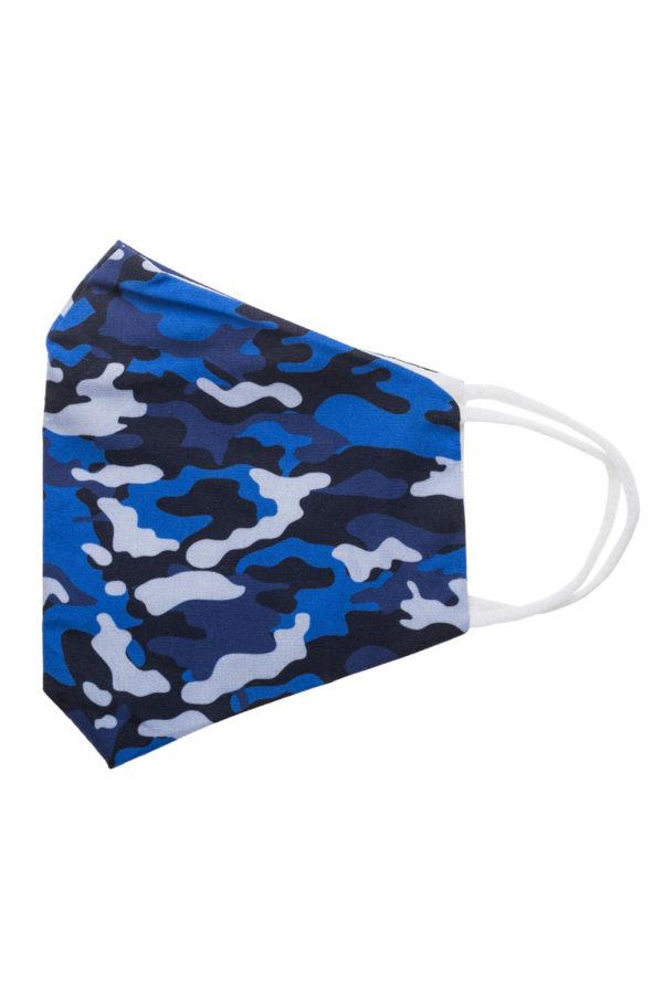 Πλενόμενη Υφασμάτινη Μάσκα Προστασίας Μπλε Παραλλαγή