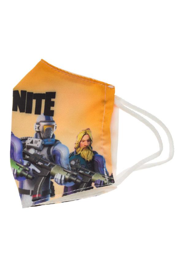 Κίτρινη Fortnite Παιδική Υφασμάτινη Μάσκα Επαναχρησιμοποιούμενη