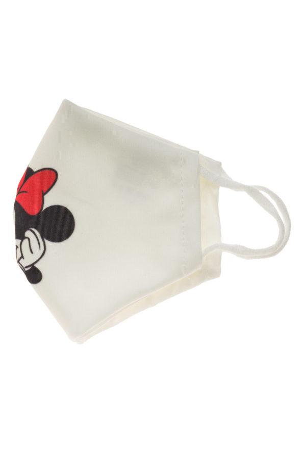 Μίνι Μάους Άσπρη Παιδική Υφασμάτινη Μάσκα Επαναχρησιμοποιούμενη