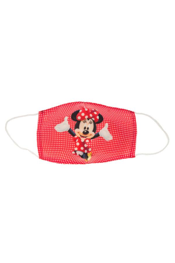 Κόκκινη Μίνι Μάους Παιδική Υφασμάτινη Μάσκα Επαναχρησιμοποιούμενη