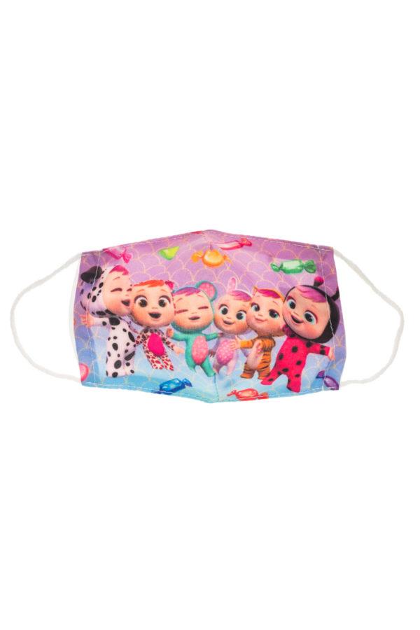 Cry Babies Κλαψουλίνια Παιδική Υφασμάτινη Μάσκα Επαναχρησιμοποιούμενη