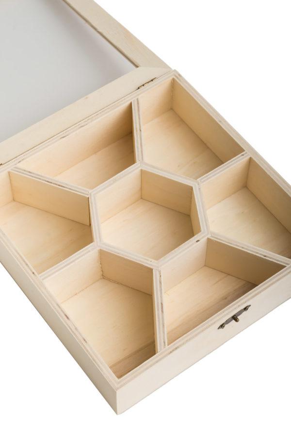 Ξύλινο Κουτί με 7 Θέσεις για Loomies Scrunchies