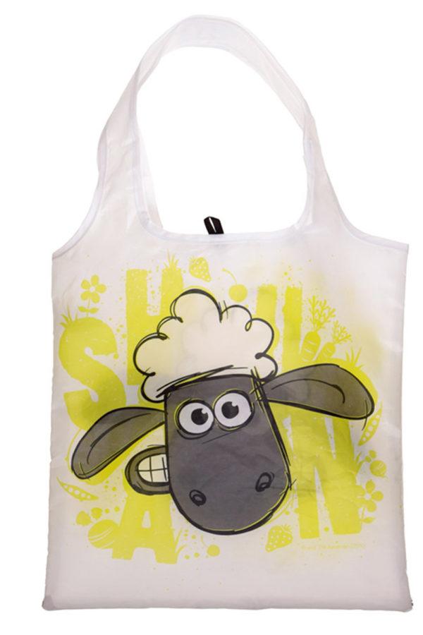 Άσπρο Shaun το Πρόβατο Shopping Bag σε Θήκη