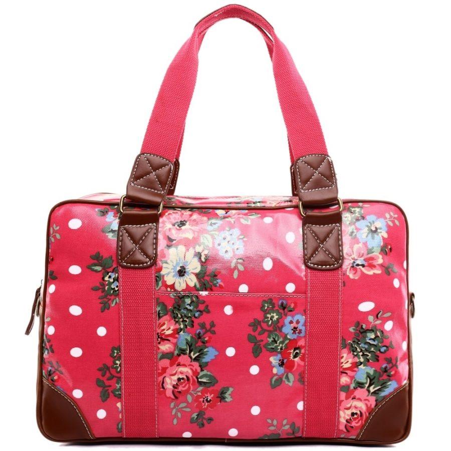 Κόκκινη Floral Τσάντα Weekend