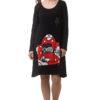 Μαύρο Κοντό Φόρεμα με Απλικέ Πολυθρόνα